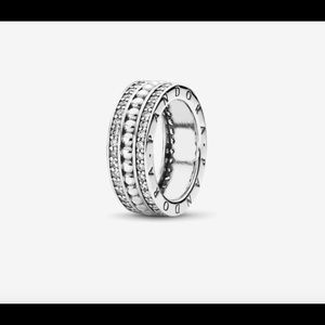 PANDORA Forever Clear CZ Ring